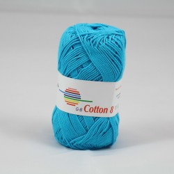 G-B Cotton 8 1520 tyrkis