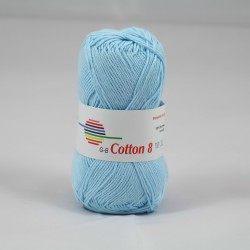 G-B Cotton 8 1541 lyseblå