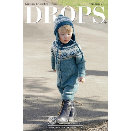 Billede af Drops børn katalog nr. 27 med strikke- og hækleopskrifter