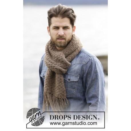 Billede af Fairbanks - halstørklæde strikkekit Bredde: 27 cm. Længde: ca 180 cm (uden frynser)