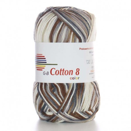 Image of G-B Cotton 8 mix 02 Beige-brun