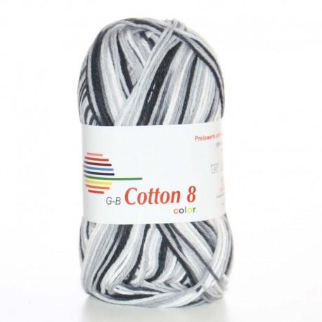 Image of G-B Cotton 8 mix 10 Sort-grå