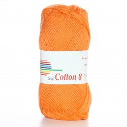 G-B Cotton 8 1814 lys orange