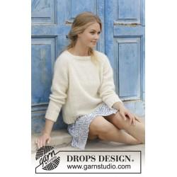 Carly Pullover - Bluse med raglan, strikket ovenfra og ned. Størrelse S - XXXL.