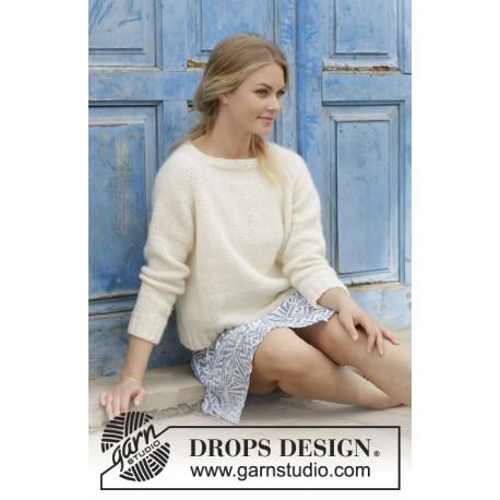Image of   Carly Pullover - Bluse med raglan, strikket ovenfra og ned. Størrelse S - XXXL.